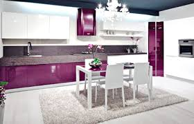 Small Square Kitchen Design Furniture Fabulous White Purple Kitchen Design Small Square