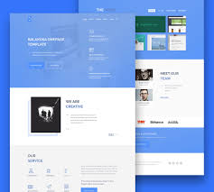multipurpose one page website template free psd download