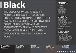 black color meaning comadre coloring site