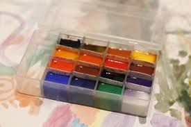 watercolor paint set and diy palette box making it up as i sew along