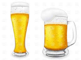 beer vector beer glass and mug with froth vector clipart image 19132 u2013 rfclipart