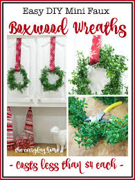 boxwood wreaths diy mini faux boxwood wreaths the everyday home