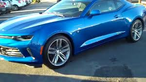 blue chevrolet camaro 2016 chevrolet camaro lt rs hyper blue burns cadillac chevrolet