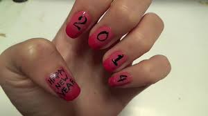 easy nails art happy new year 2014 youtube