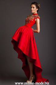 abendkleid designer rotes designer vokuhila schöne abendkleid kleider 890754 95 48