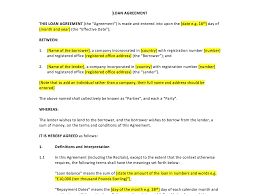free non disclosure agreement template uk loan agreement template uk template agreements and sample contracts loan agreement template