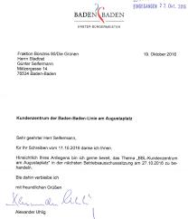 Baden Baden Linie Grüne Fragen Nach Zukunft Des Bbl Kvv Kundenzentrums In Der Baden