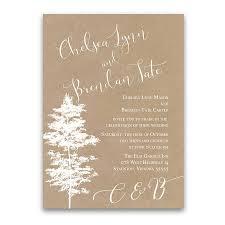 wedding invitations kraft paper wedding invitations kraft paper tree silhouette script
