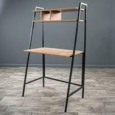 Leaning Bookshelf With Desk Leaning U0026 Ladder Desks You U0027ll Love Wayfair