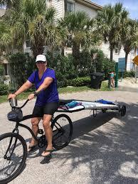 sup bike trailer tow paddleboard behind bike storeyourboard com