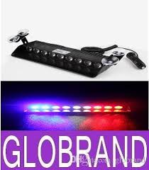 red and white led emergency lights new 9 led police emergency strobe lights dash board windshields l