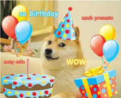 Meme Happy Birthday Card - doge meme birthday card happy birthday wishes