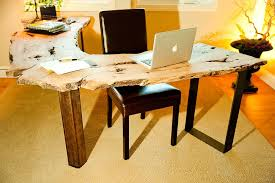live edge computer desk natural allure 25 home offices that celebrate the charm of live