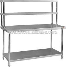 Kitchen Table With Stainless Steel Top - kitchen kitchen work table with shelves imposing on regard to