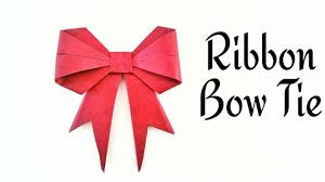ribbon bow ribbon bow tie diy origami craft tutorial by paper folds