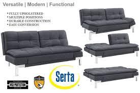 modern futon sofa bed the boca double cushion convertible sofa bed sleeper convertible