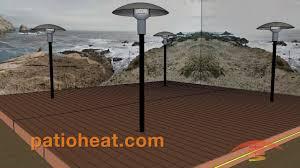 Sunpak Patio Heaters by Patio Heater Deck Mount Demo Sunglo Psa265 Patioheat Com Youtube