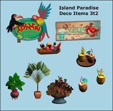 the sims 3 island paradise deco items some of them 2 roof