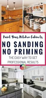 refinish cabinets without sanding how to paint kitchen cabinets without sanding or priming from can