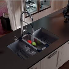 kitchen sink with faucet kitchen sink and faucet sets stainless steel and glass vessel