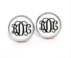 monogrammed earrings best monogrammed earrings photos 2017 blue maize