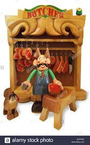 toy wood wooden butcher shop meat dog chopper cleaver block side
