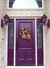 Purple Home Decorations by H O M E S By L A S U N Home Exterior Painting Purple Front