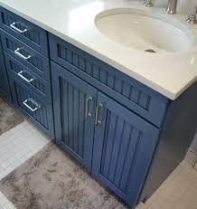 bathrooms design navy blue bathroom vanity cabinet mid continent