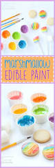 marshmallow edible paint letting your kids play with their food