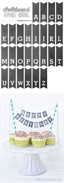 free printable birthday cake banner printable chalkboard letters cake bunting yellow bliss road