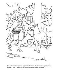 dover famous fairy tales coloring red riding hood