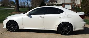 lexus is350 front tires 19 inch staggered vossen cvt gloss graphite true directional on