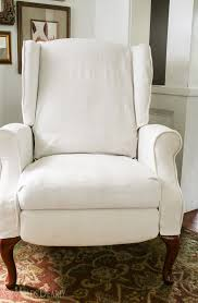 How To Reupholster A Wingback Armchair How To Slipcover A Recliner She Holds Dearly