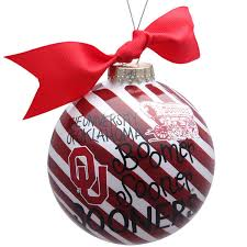sooners striped word collage ornament