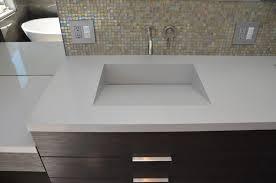 integrated sink vanity top quartz integrated sinks modern vanity tops and side kohler single