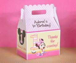 baby minnie mouse 1st birthday minnie mouse 1st birthday br personalized gable box party favor