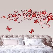 wall stickers home decor home decor wall art stickers butterfly vine flower wall art mural