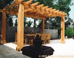 How To Build A Wooden Pergola by Mission Style Wood Dining Pergola Los Angeles California 1998