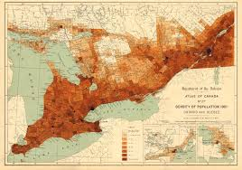 canadian map population distribution canada population density 1901 ontario and white 1906