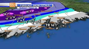 Snowfall Totals Map First Major Winter Storm Expected To Graze Midcoast By Staff