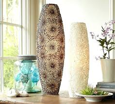 Capiz Vase Table Lamp Tortoise Shell Glass Table Lamp Coastal Beach Ivory