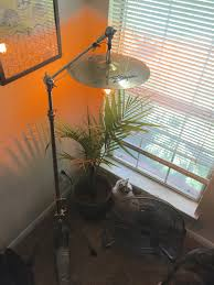 Banana Themed Lamps Finished My Cymbal Stand Lamp Project Drum Decor Pinterest