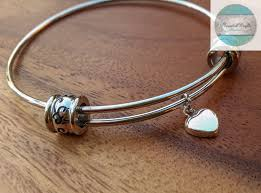 heart charm bangle bracelet images Personalised jewellery expandable bangle bracelet silver charm jpg