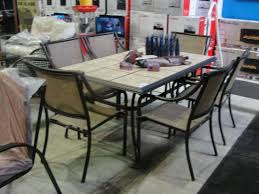 tile top patio table and chairs 7pc patio table set ceramic tile top table with 6 chairs