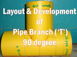 layout and development of pipe branch 90 degree youtube