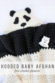 crochet panda hooded baby afghan free pattern make u0026 do crew