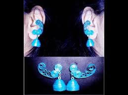 how to make jhumka earrings quilling paper earrings jhumkas design earrings