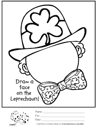 free st patricks day coloring pages glum me