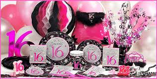 Pink And Black Sweet 16 Decorations Decorations For Sweet 16 Decorating Ideas