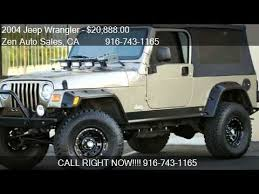 jeep 2004 for sale 2004 jeep wrangler unlimited sport lwb custom for sale in